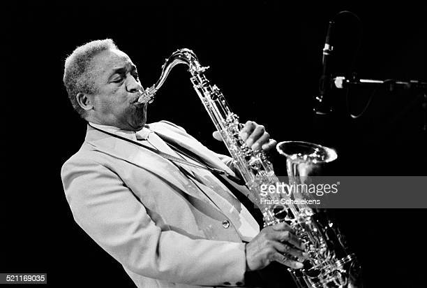 Von Freeman, tenor saxophone player, performs at the BIM huis on April 4th 1992 in Amsterdam, Netherlands.