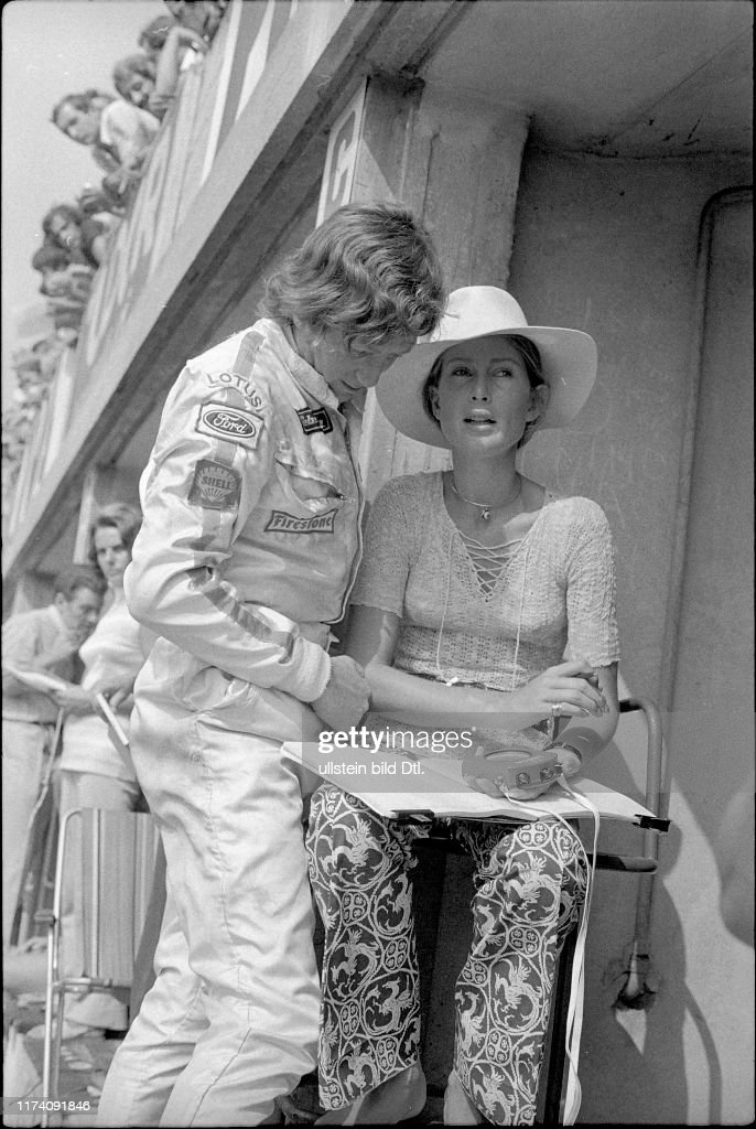 GP von Italien in Monza 1970: Jochen und Nina Rindt : Foto di attualità