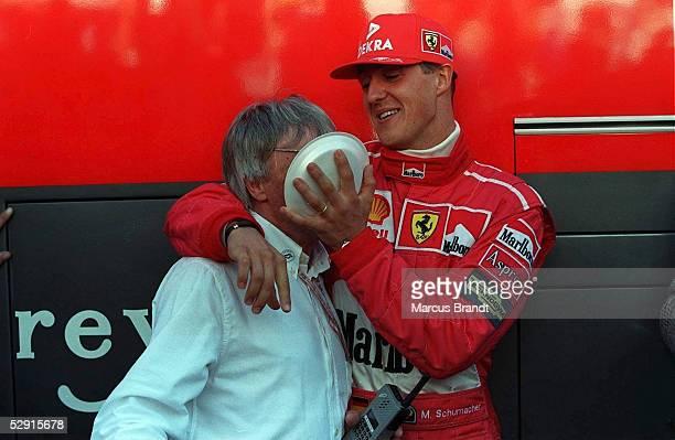 GP von LUXEMBURG 1997 Nuerburgring Bernie ECCLESTONE/FERRARI Michael SCHUMACHER/FERRARI