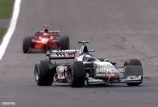 Von LUXEMBURG 1998 Nuerburgring; Mika HAEKKINEN/MCLAREN , Michael SCHUMACHER/FERRARI