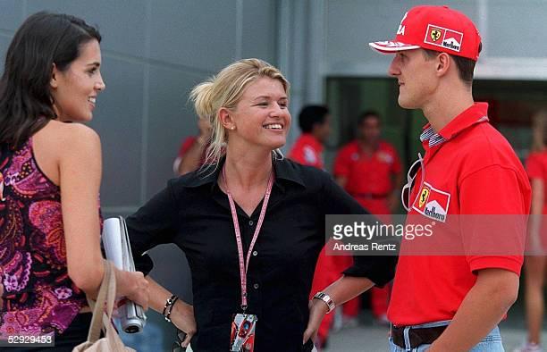 GP von MALAYSIA 1999 Sepang Tanja NIGGE FRAU Corinna SCHUMACHER Michael SCHUMACHER/GER FERRARI