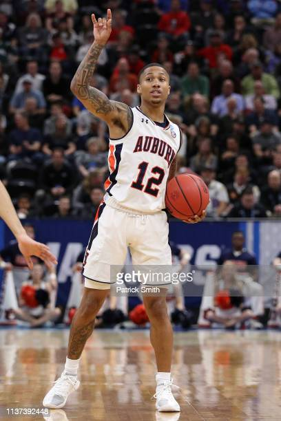Von McCormick of the Auburn Tigers gestures during the first half against the New Mexico State Aggies in the first round of the 2019 NCAA Men's...