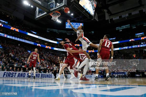 Von McCormick of the Auburn Tigers shoots the ball during the second half against the New Mexico State Aggies in the first round of the 2019 NCAA...
