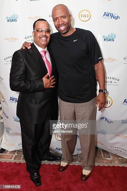 Von McDaniel and Kenny Smith attend 10th Annual Kenny The Jet Smith NBA AllStar Bash hosted by Mary J Blige on February 24 2012 in Orlando Florida