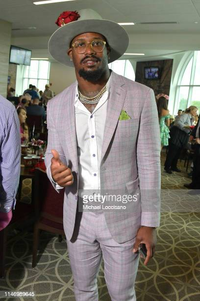 Von Miller attends the 145th Kentucky Derby at Churchill Downs on May 04, 2019 in Louisville, Kentucky.