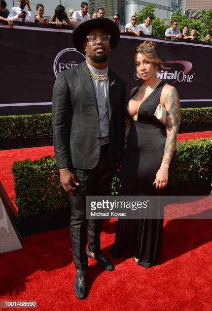Von Miller attends the 2018 ESPY Awards Red Carpet Show Live Celebrates With Moet Chandon at Microsoft Theater on July 18 2018 in Los Angeles...