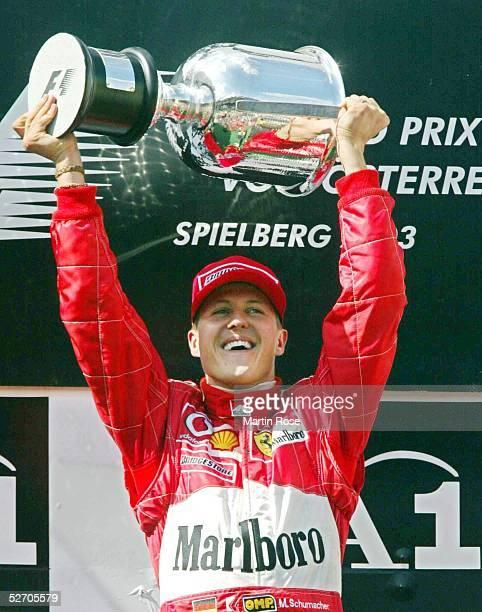GP von Oesterreich 2003 Spielberg Jubel Sieger Michael SCHUMACHER/GER Ferrari