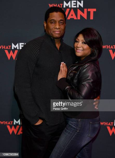 Von Scales and Trina Braxton attend a special screening of 'What Men Want' at Regal Atlantic Station on January 18, 2019 in Atlanta, Georgia.