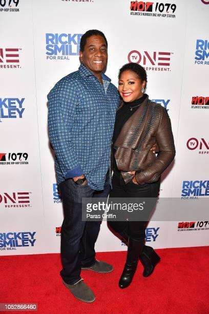 "Von Scales and Trina Braxton attend ""Rickey Smiley For Real"" Season 5 Premiere screening at Regal Atlantic Station on October 23, 2018 in Atlanta,..."