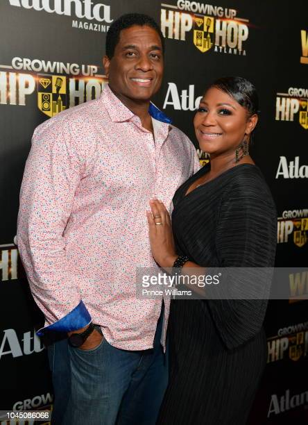 Von Scales and Trina Braxton attend the return of growing up Hip Hop Atlanta at Tongue & Groove on October 2, 2018 in Atlanta, Georgia.