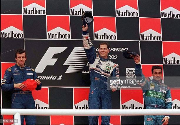 FORMEL 1 GP von SPANIEN 1997 Barcelona 250597 Olivier PANIS Jacques VILLENEUVE Jean ALESI