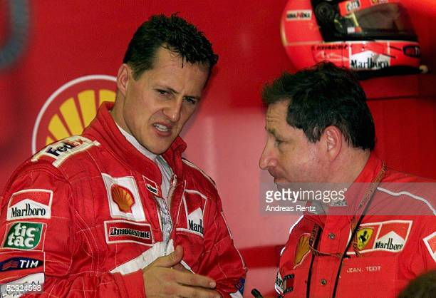 GP von UNGARN 2000 Budapest Michael SCHUMACHER/FERRARI mit Teamchef Jean TODT