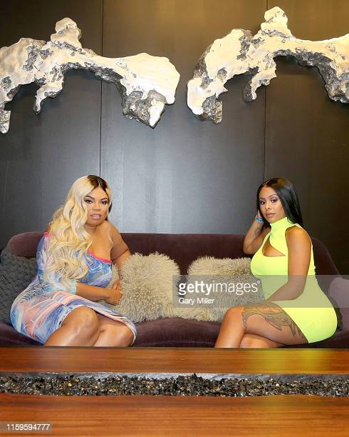 Von Zip and Alexis Skyy attend Von Zip's XO Birthday Pool Party at Maya Lagoon on June 29 2019 in Houston Texas