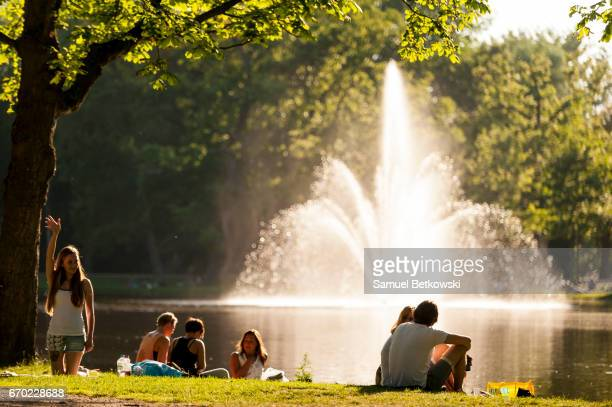 Vondelpark Lake Fountain
