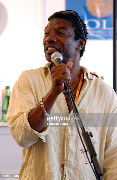Vondie CurtisHall during 2004 Cannes Film Festival Karaoke Night with Vondie CurtisHall at American Pavilion in Cannes France