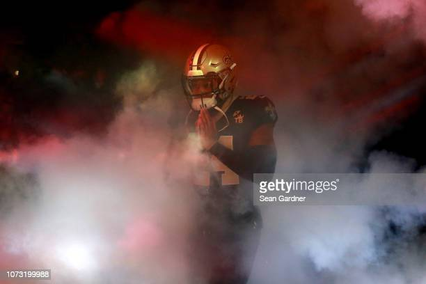 Vonn Bell of the New Orleans Saints walks on the field before a game against the Atlanta Falcons at the MercedesBenz Superdome on November 22 2018 in...