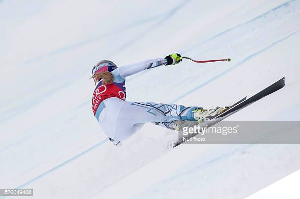 Vonn Lindsey -USA-AUDI FIS SKI WORLD CUP- La Thuile-Valle D'Aosta 8th Ladies' downhill- on February , 2016.