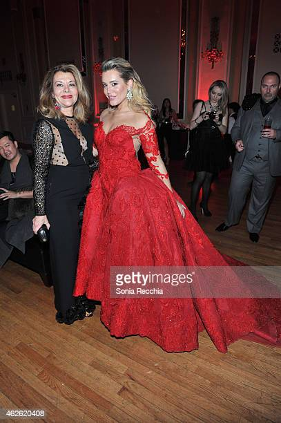 Vonna & Jenna Bitove attends Marc Jacobs beauty debuts new lipstick at 2015 Canadian Arts And Fashion Awards at Fairmont Royal York on February 1,...