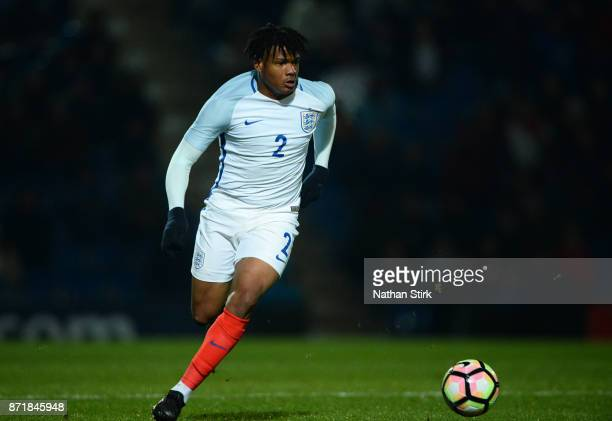 Vontae DaleyCampbell of England U17s and of Portugal 17s in action during the International Match between England U17 and Portugal U17 at Proact...