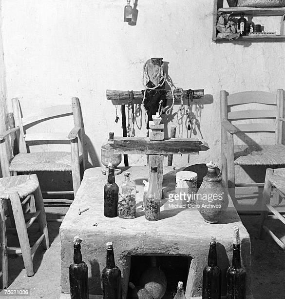 A voodoo altar in 1946 in Haiti
