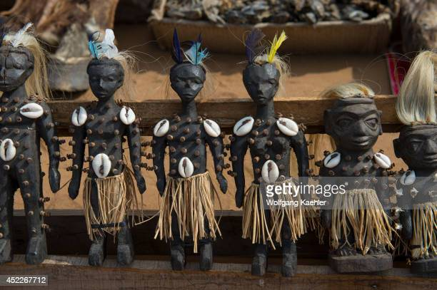 Voodoo dolls on the Akodessewa Fetish Market in Lome Togo known as the world's largest voodoo market