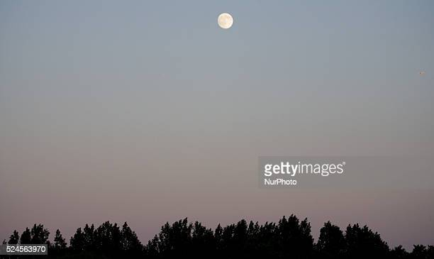 Voorschoten, Netherlands, on June 30, 2015. In two days the second full moon of the 2015 summer will take place. The Netherlands has had an...