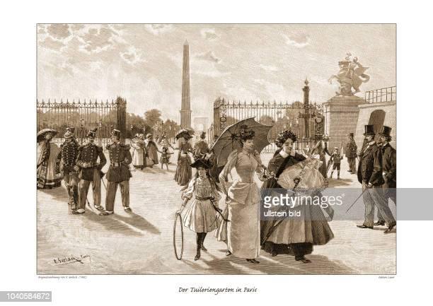 Vor dem Eingang des TuilerienGartens zu Paris