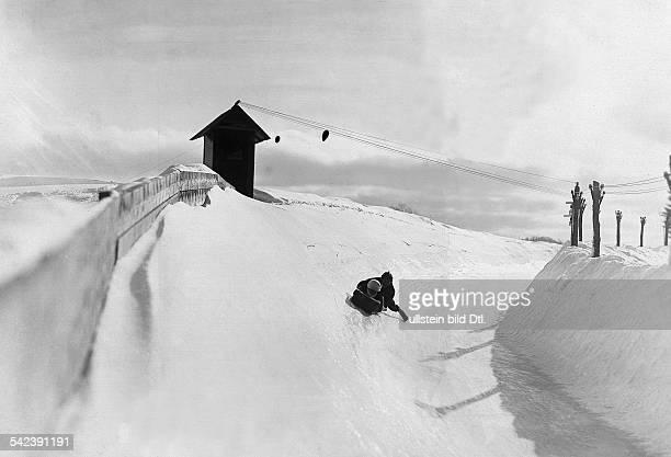 Vorbereitung auf die Winterolympiade Schlittensportler auf der Bahn veröff BZ Foto Barineau