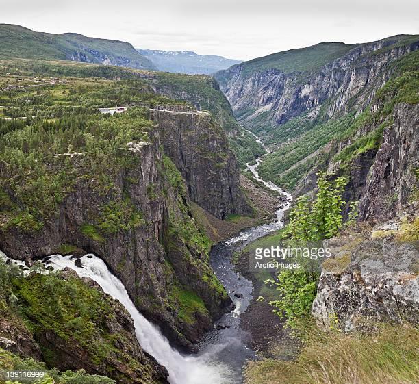 Voringsfoss waterfall in Eidfjord, Norway