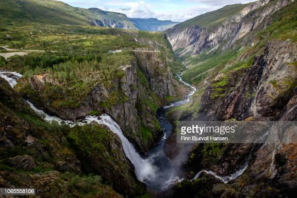 voringsfossen in hardangervidda national park norway - finn bjurvoll stock pictures, royalty-free photos & images