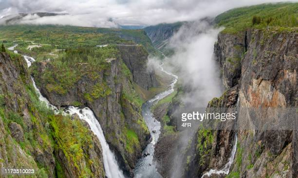 voringsfossen waterfall, norway - northern norway stock pictures, royalty-free photos & images