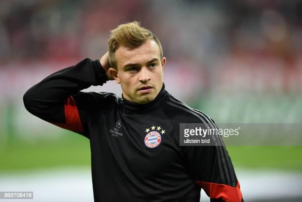 FUSSBALL CHAMPIONS LEAGUE SAISON 2014/2015 Vorrunde FC Bayern Muenchen Manchester City Xherdan Shaqiri nachdenklich