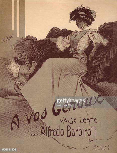A Vos Genoux Waltz Sheet Music Cover by Clerice Freres