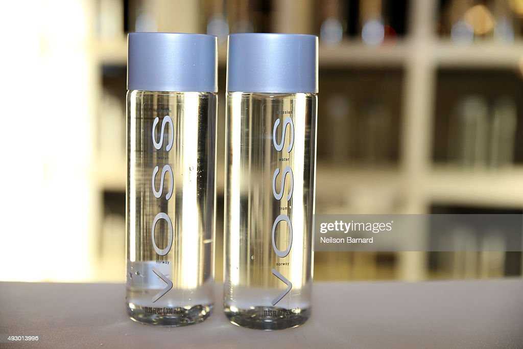 Voss water on display at the Blue Moon Burger Bash presented