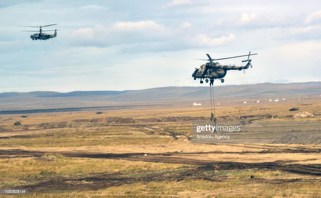 Vostok 2018 military exercises held jointly by the Russian Armed Forces and the Chinese People's Liberation Army at the Tsugol range in Transbaikal Territory, Russia on September 13, 2018.