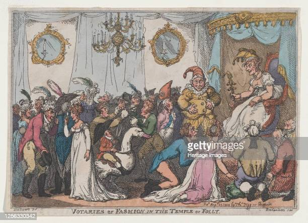 Votaries of Fashion in the Temple of Folly August 25 1808 Artist Thomas Rowlandson
