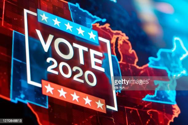 us-wahl 2020 - präsidentenwahl stock-fotos und bilder