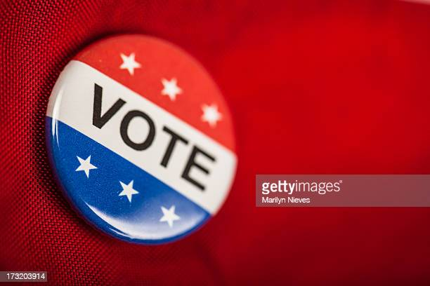 vote button - broche stock pictures, royalty-free photos & images