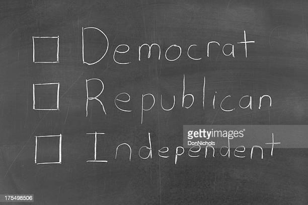 Vote Democrat Republican or Independent