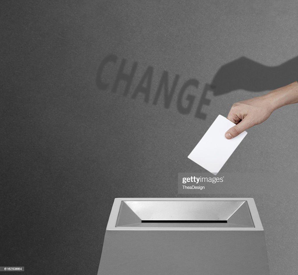 Vote for change concept : Stock Photo