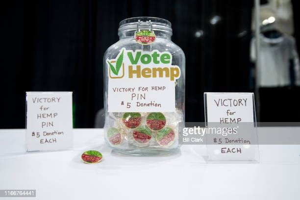 Vote Hemp set up a booth at the Southern Hemp Expo at the Williamson County Agricultural Exposition Park in Franklin TN on Friday Sept 6 2019