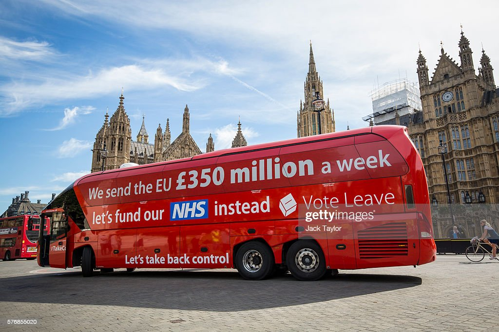 Greenpeace Re-brands Boris Johnson's Brexit Battlebus : News Photo