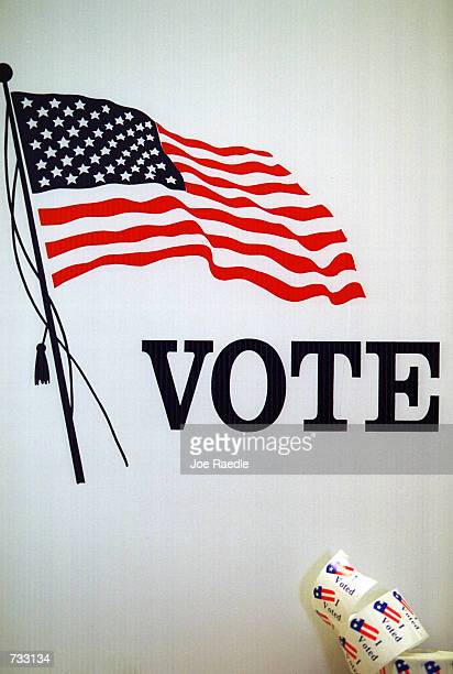 Vote sign at an early voting site in El Paso Texas October 23 2000 The state of Texas has early voting that must be conducted for all elections In...