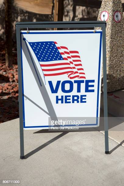 A vote sign at street of Goldfield, Nevada state, USA
