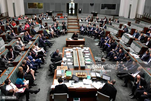 A vote takes place in the House of Representatives to amend the marriage equality bill which is unsuccessful at Parliament House on December 7 2017...
