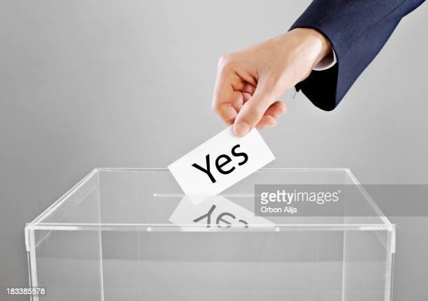 "Voter ""oui""."