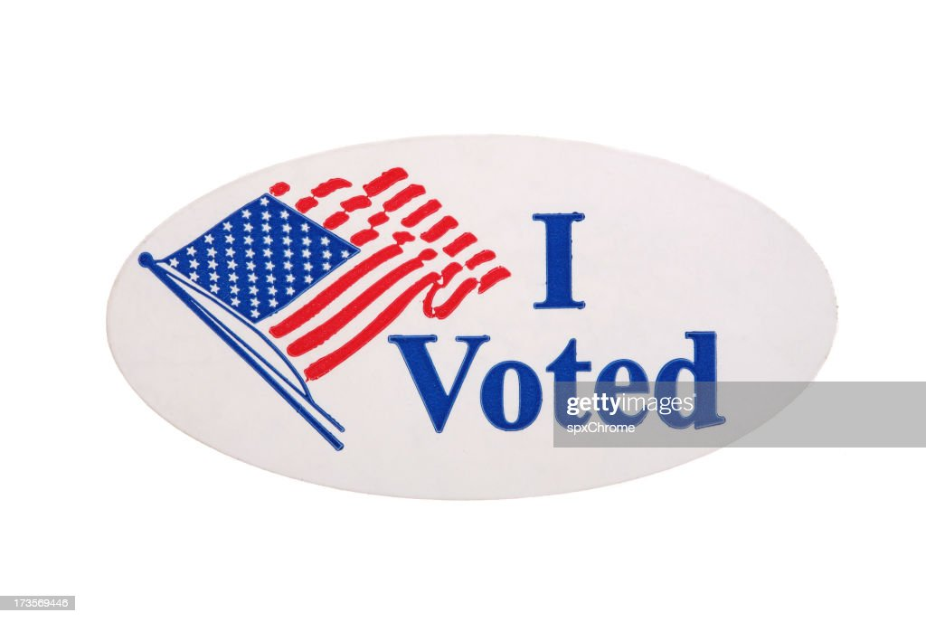 I Voted Sticker : Stock Photo