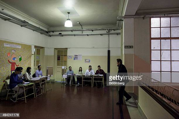 A voter arrives at a polling station to cast his vote for president in Buenos Aires Argentina on Sunday Oct 25 2015 Argentina is moving a step closer...