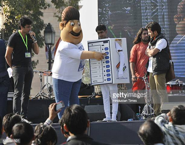 Voter awareness program of Systematic Voters Education and Electoral Participation by the District Election office of New Delhi District at India...