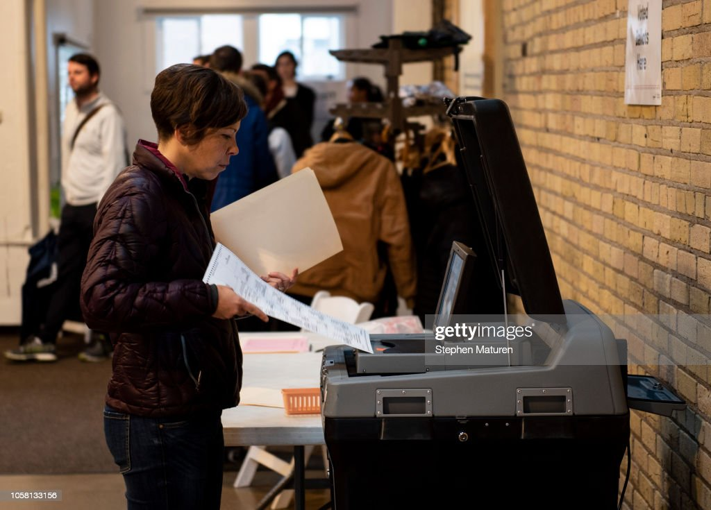 Voters Across The Country Head To The Polls For The Midterm Elections : News Photo